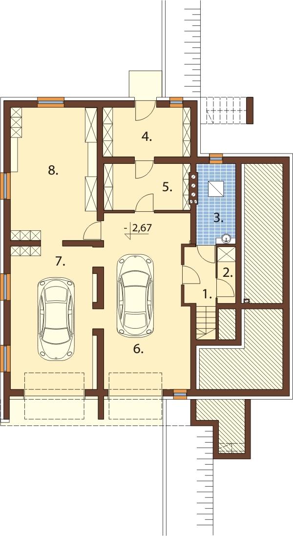Projekt domu DM-6031 - rzut