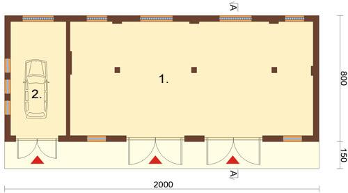 Projekt ZG-24 - rzut