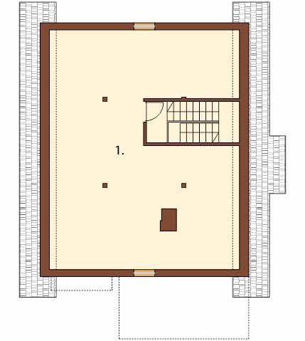 Projekt domu DM-6036 - rzut