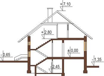 Projekt domu DM-6036 - przekrój