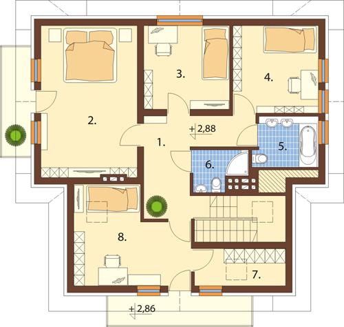 Projekt domu DM-6245 - rzut