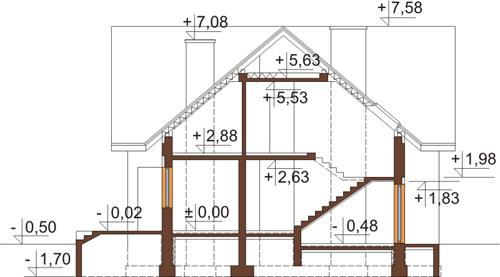 Projekt domu DM-6245 - przekrój