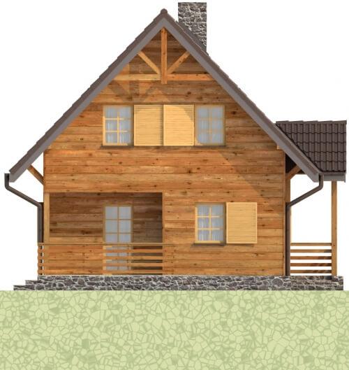 Projekt domu DM-6261 - elewacja