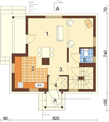 Projekt domu DM-6261 - rzut