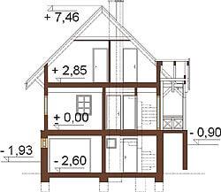 Projekt domu DM-6261 - przekrój