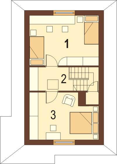 Projekt domu DM-6038 - rzut