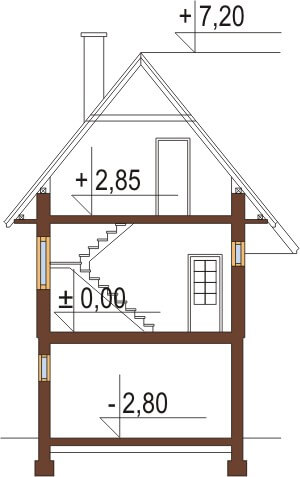 Projekt domu DM-6038 - przekrój