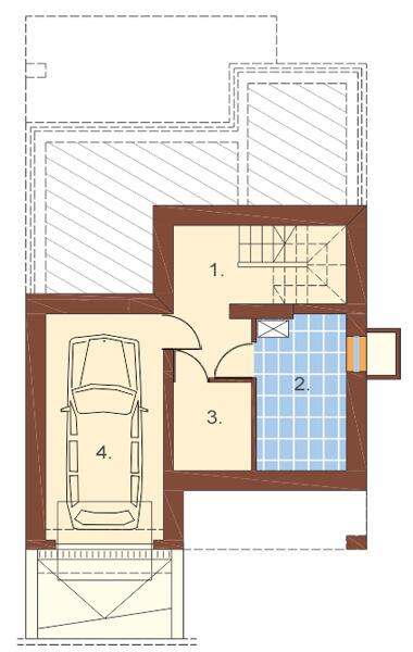 Projekt domu DM-6273 - rzut