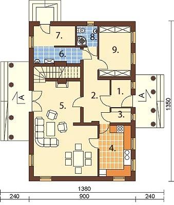 Projekt domu DM-6276 - rzut