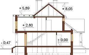Projekt domu DM-6276 - przekrój
