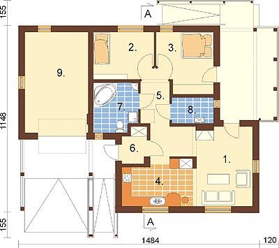 Projekt domu DM-6278 - rzut