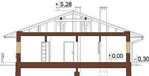 Projekt domu DM-6278 - przekrój
