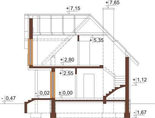 Projekt domu DM-6279 - przekrój