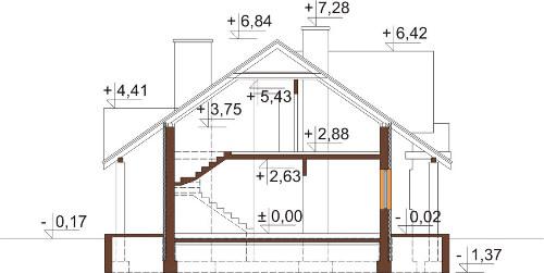 Projekt domu DM-6282 - przekrój