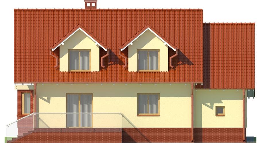Projekt domu DM-6040 - elewacja