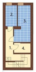 Projekt domu DM-6040 - rzut