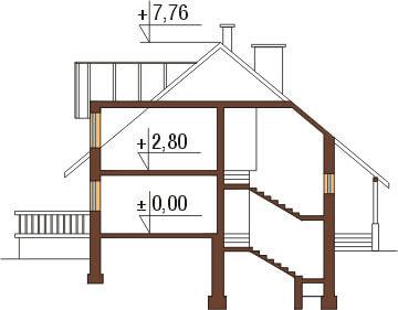 Projekt domu DM-6040 - przekrój