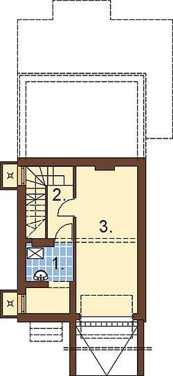 Projekt domu DM-6285 - rzut