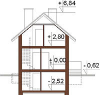 Projekt domu DM-6285 - przekrój