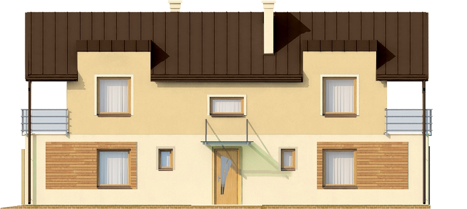 Projekt domu DM-6289 - elewacja