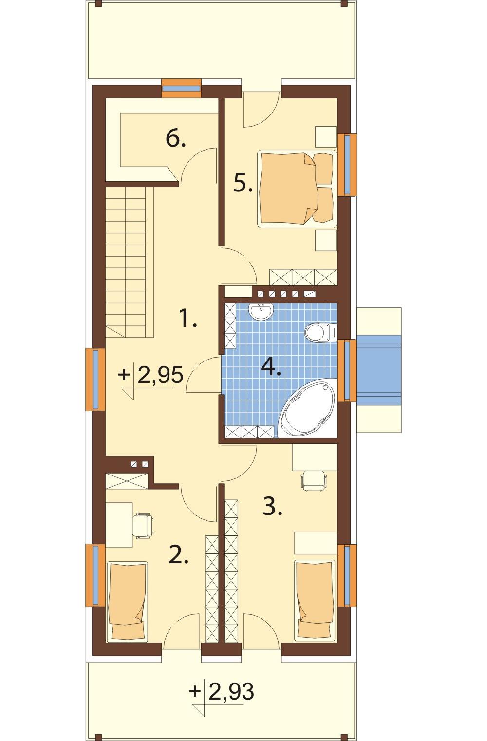 Projekt domu DM-6289 - rzut