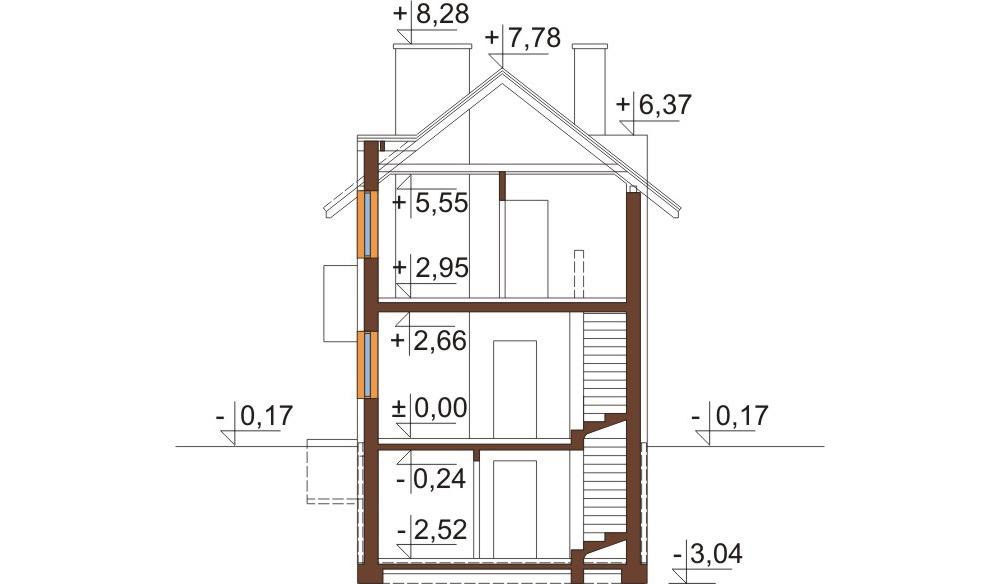 Projekt domu DM-6289 - przekrój