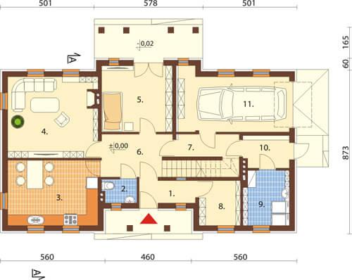Projekt domu DM-6290 - rzut