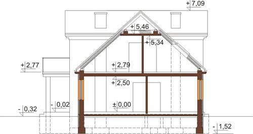 Projekt domu DM-6290 - przekrój