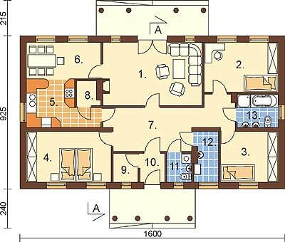 Projekt domu DM-6291 - rzut