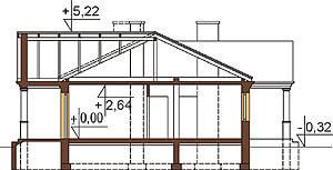 Projekt domu DM-6291 - przekrój