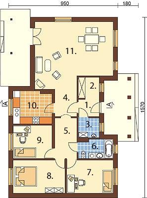 Projekt domu DM-6292 - rzut