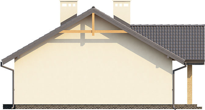 Projekt domu DM-6292 - elewacja