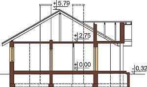 Projekt domu DM-6292 - przekrój