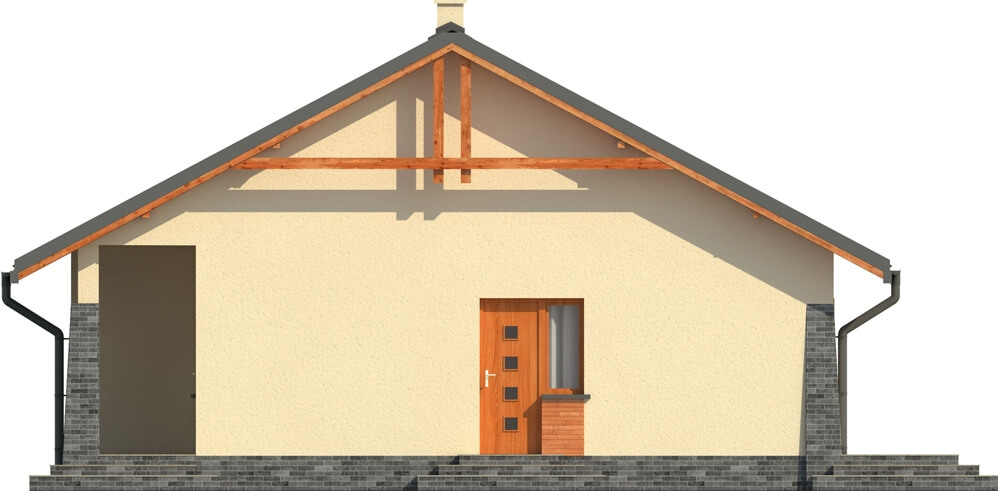 Projekt domu DM-6298 - elewacja