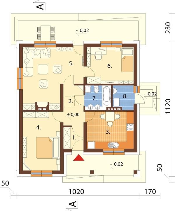 Projekt domu DM-6298 - rzut