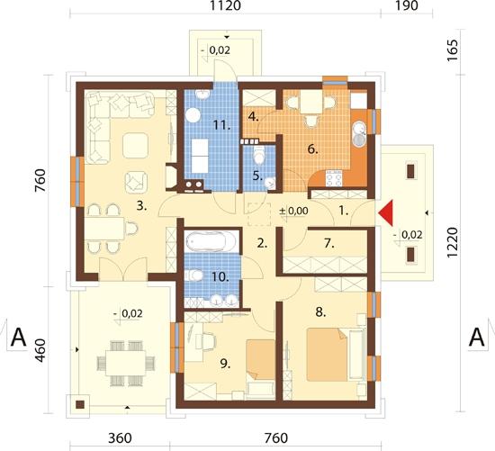 Projekt domu DM-6300 - rzut