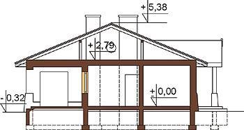 Projekt domu DM-6300 - przekrój