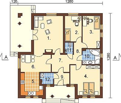 Projekt domu DM-6303 - rzut
