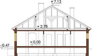 Projekt domu DM-6303 - przekrój
