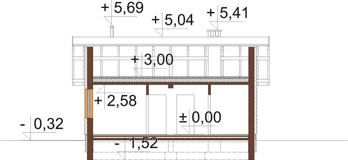 Projekt domu DM-6309 - przekrój