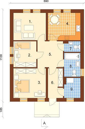 Projekt domu DM-6309 - rzut