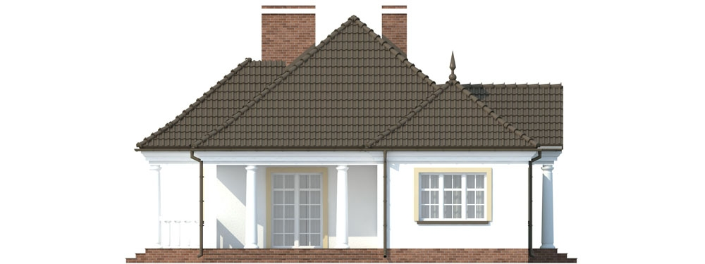 Projekt domu DM-6313 - elewacja
