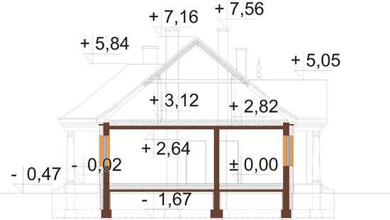 Projekt domu DM-6313 - przekrój
