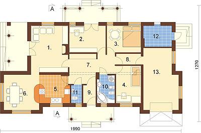 Projekt domu DM-6313 - rzut