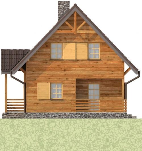 Projekt domu L-6261 - elewacja