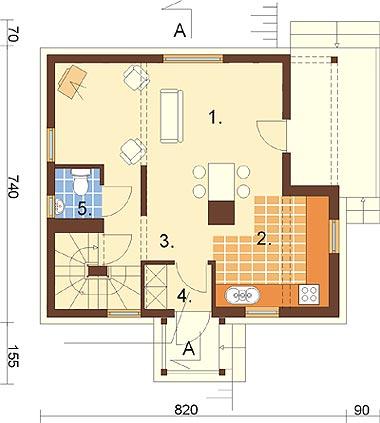 Projekt domu L-6261 - rzut
