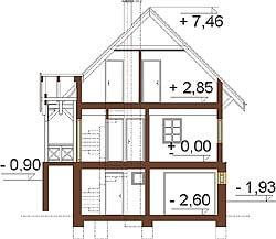 Projekt domu L-6261 - przekrój