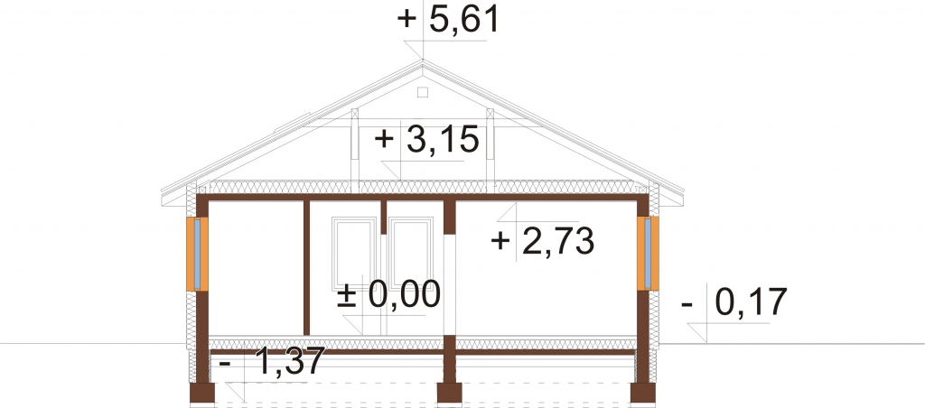 Projekt domu DM-5516 - przekrój