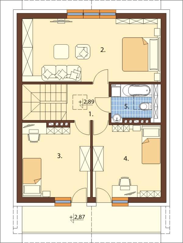Projekt domu L-6273 - rzut
