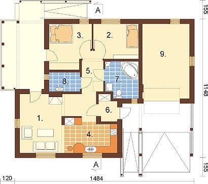 Projekt domu L-6278 - rzut